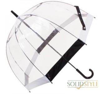 Зонт-трость женский механический FULTON (ФУЛТОН) FULL041-Black-White