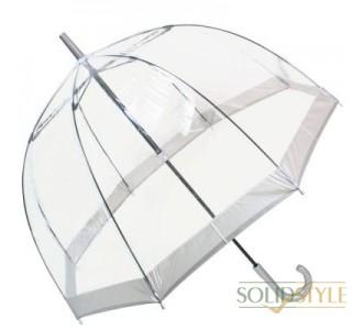 Зонт-трость женский механический FULTON (ФУЛТОН) FULL041-Silver