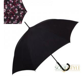 Зонт-трость женский полуавтомат с двойным  куполом FULTON (ФУЛТОН) FULL754-Enchanted-Bloom