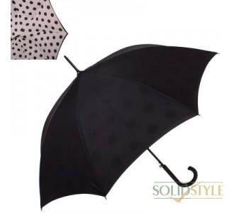 Зонт-трость женский полуавтомат с двойным  куполом FULTON (ФУЛТОН) FULL754-Polka-Dot