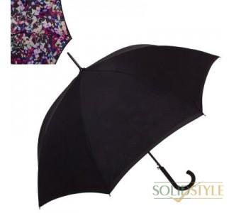 Зонт-трость женский полуавтомат с двойным  куполом FULTON (ФУЛТОН) FULL754-Digital-Lights