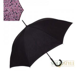 Зонт-трость женский полуавтомат с двойным  куполом FULTON (ФУЛТОН) FULL754-Painted-Roses
