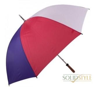 Зонт-трость мужской механический с двойными  спицами и большим куполом FULTON (ФУЛТОН) FULS652-Golf-multi-panel