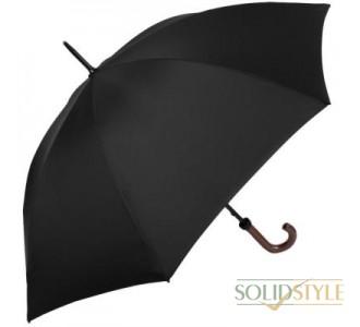 Зонт-трость мужской механический с двойными  спицами и большим куполом FULTON (ФУЛТОН) FULG813-Black