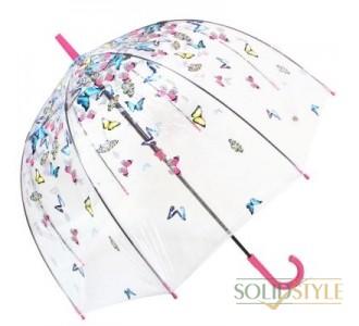 Зонт-трость женский механический FULTON (ФУЛТОН) FULL042-Raining-Butterfly