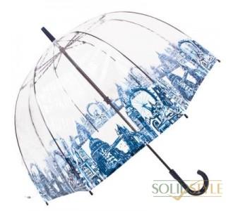 Зонт-трость женский механический FULTON (ФУЛТОН) FULL042-London-Icons